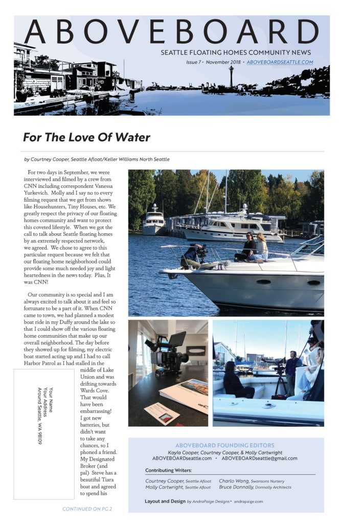 aboveboard seattle floating homes newsletters